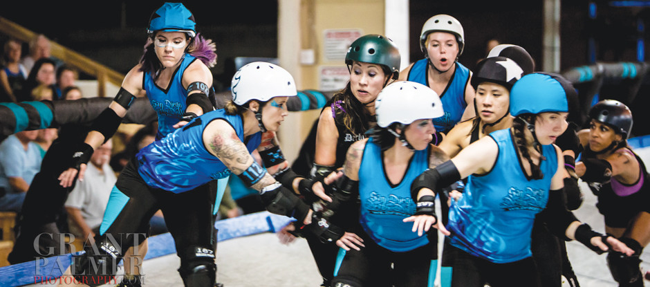 Experience Women's Banked Track Roller Derby