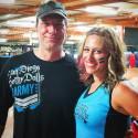 Mike Rowe and Isabelle Ringer of the San Diego Derby Dolls